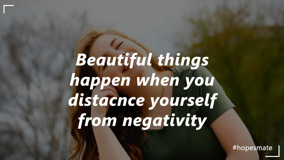 Distance from negativity