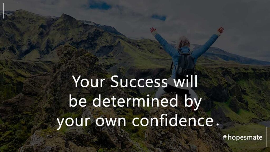 gain self-confidence in life