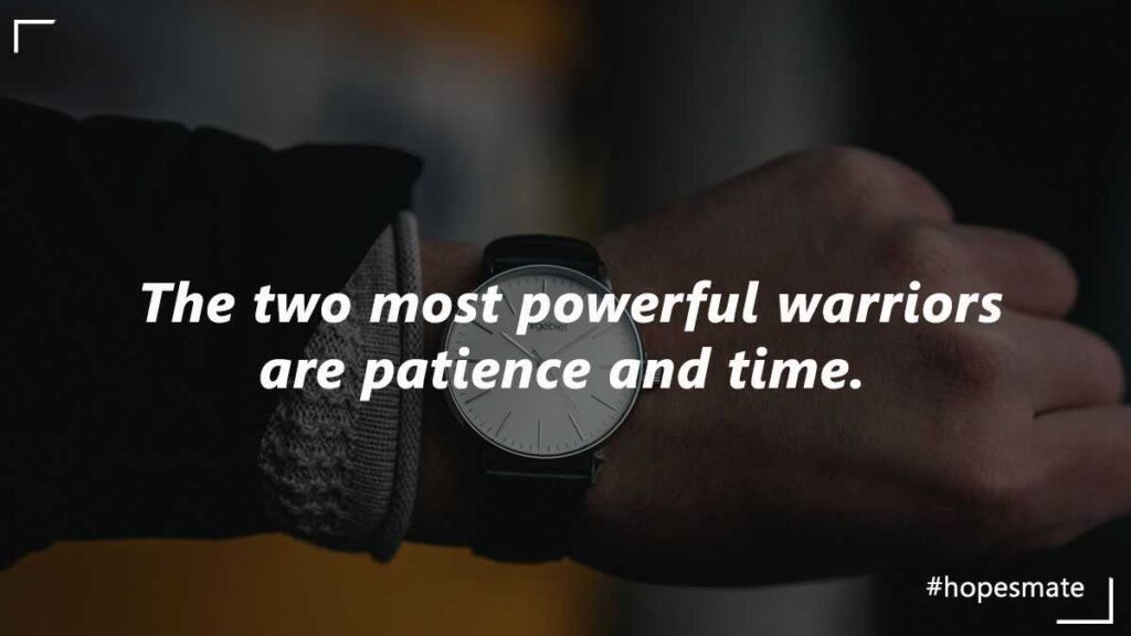 value of patience and time in life