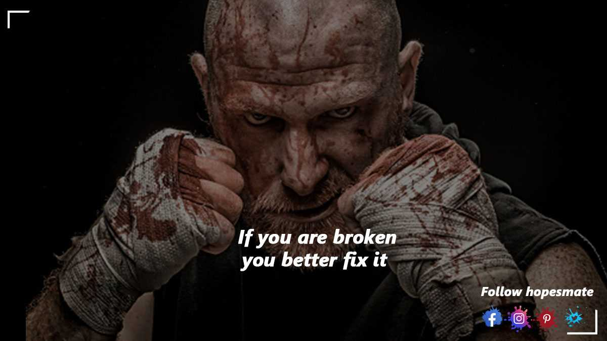 fix yourself when your are broken