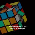 Concentration strengthen the mind