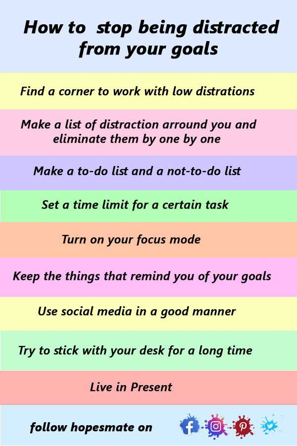 how to Stop being distracted