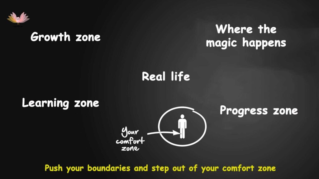 Stepping out of your comfort zone | Life begins at the end of your comfort zone